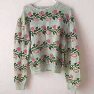 Vintage cotton handknit sweater